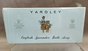 """Vintage """" English Lavender """" Perfumed Soaps by Yardley 3 x 90gms Unopened !"""