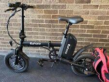 Lightweight Aluminum Electric Bike Folding Ebike - Black
