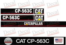 CAT CP-563C Vibratory Compactor Decal Kit Vinyl Decal Heavy Equipment Stickers
