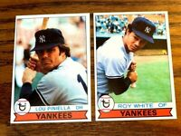 1979 Topps #18 Lou Piniella and #19 Roy White - Yankees