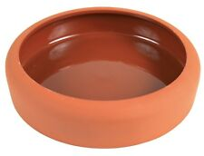 Large Terracotta Ceramic Bowl for Rabbits Guinea Pigs & Small Animals 600ml/19cm