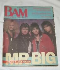 BAM LA's Music Magazine 14 Jul 1989 312 Mr Big Serving a Large Portion