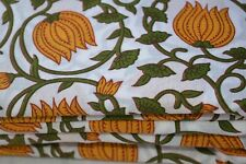 Multi colored Hand Made Block Print Fabric Indian Cotton Craft Fabric 5 Yard