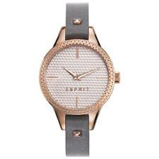 Esprit esprit-tp10905 dark grey Uhr Damenuhr Lederarmband grau rosé ES109052005