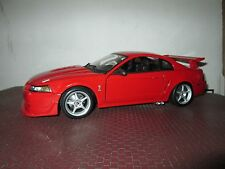 FORD MUSTANG COBRA SVT RED  1:18 by MAISTO loose display piece