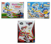Disney Plane Minion Cars Track Stair Slide Set Music Toys Play Game Kids Sound