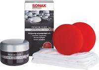 SONAX PremiumClass CarnaubaCare 200ml 211200 Hartwachs Set mit Schwamm und Tuch