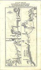Carte antique, Édimbourg à Dumfries (4) / Edinburgh à Whitehorn (1)