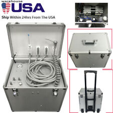 Dental Portable Mobile Delivery Unit Suction Rolling Case Air Compressor 550w Us