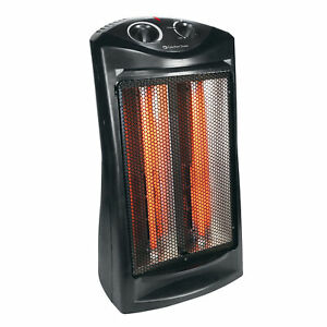 Comfort Zone CZQTV007BK Fan-Assisted Tower Radiant Quartz Heater