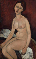 "high quality 24x36  oil painting handpainted on canvas ""seated nude """
