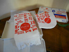 Vintage COCA COLA COKE 8 Languages Dish/Hand Towel & Cloth AAA Premium Gift