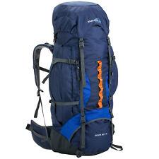skandika Eiger 80+10 Liter Trekking-Rucksack mit Regenhülle blau NEU
