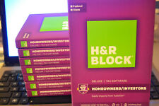 2017 H&R Block DELUXE turbo Federal & State Tax Cut New CD in the Box Ship Fast!