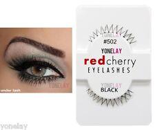 Lot 3 Pairs RED CHERRY #502 False Eyelashes Under Lash Fake Eye Lashes