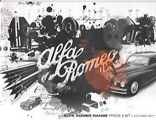 COMPREHENSIVE ALFA ROMEO FULL RANGE PRICE LIST BROCHURE OCTOBER 2011 FOR 2012