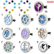 10Styles Car Air Vent Freshener Essential Oil Diffuser Locket Clip Aromatherapy