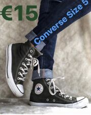 Converse All Stars Size 5 green Excellent Condition