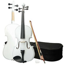 """New High Quality 16 Inch White Acoustic Viola with Case Rosin Bow 16"""""""