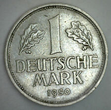 1950 D German 1 Mark Germany Copper Nickel Coin Xf