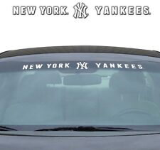 "NEW YORK YANKEES 35"" X 4"" WINDSHIELD WINDOW DECAL CAR TRUCK MLB BASEBALL"