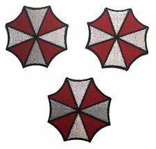 Resident Evil Umbrella Corp Embroidered Iron On Patch Set of 3 Patches