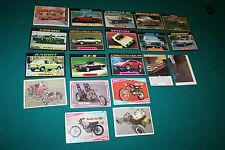 Lot of 20 1974 Topps Bubble Gum Trading Cards Automobiles EUC Hot Rods