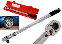 "HEAVY DUTY 3/8"" DRIVE TORQUE 5-80FT/LB CV STEEL WRENCH RATCHET GARAGE TOOL CASE"