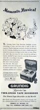 Rare 1951 GRUNDIG Reporter 700L 2-Speed Tape Recorder ADVERT - Original Print AD