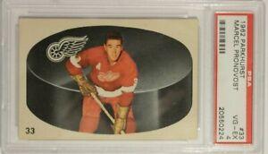 1962 Parkhurst Marcel Pronovost Card #33 PSA 4 Red Wings