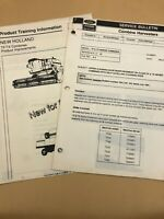 NEW HOLLAND TF AND TX COMBINE TRAINING Information + SERVICE Bulletin 1992 Lot