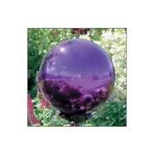 "*Purple Gazing Globe Stainless Steel 12"" Mirror Ball Lawn Ornament Garden Decor"