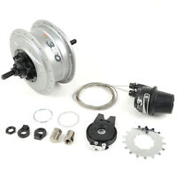 NuVinci N330 CVP Internal Gear Bicycle Rear Hub Silver 36h Disc Brake // New C3