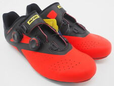 New! Mavic Men's Cosmic Pro Cycling Shoes US 9 EU 42-2/3 Red/Black 3 Bolt Carbon
