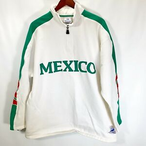 Adidas France 98 Coupe Du Monde Football World Cup Mexico 1/4 Zip Sweatshirt L