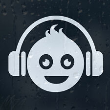 DJ Funny Smiley Face HeadPhones Car Decal Vinyl Sticker For Window Bumper Panel