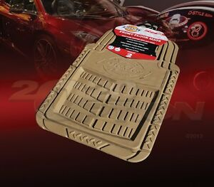 DICKIES ALL WEATHER WATER PROOF 2PCS FRONT FLOOR MATS TAN FOR FORD CAR & SUV