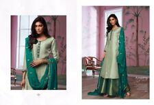 Thai Silk Shirt,Silk Jaquard Palazzo, Pure Georgette Dupatta-Ganga Amazing Grace