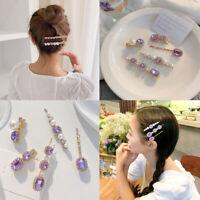 Fashion Pearl Hair Clip Girls Crystal Bridal Hairpin Barrette Hair Accessories