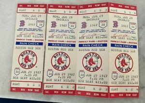 (4) Boston Red Sox Tickets from June 29 1987 vs Minnesota Twins