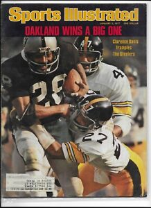 Sports Illustrated January 3 1977 Oakland Wins a Big One Clarence Davis NM