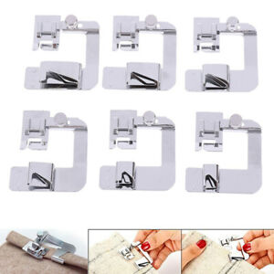 6Pcs/set Domestic Sewing Machine Foot Presser Rolled Hem Feet for Brother S HL