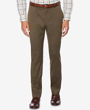 $213 PERRY ELLIS PORTFOLIO men BROWN FLAT FRONT FIT SUIT DRESS PANTS 31 W 30 L
