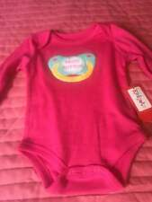 "Kidgets Creeper long sleeves ""MUTE BUTTON"" pacifier Size 0/3 Months~ PINK~NWT"