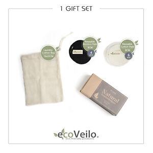 Multi-use Bamboo Cotton Make Up Remover Pads Zero Waste Vegan Organic Gift Sets