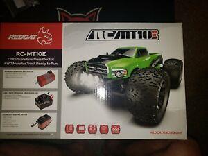 Ultimate combo Redcat RC-MT10E 1/10 4WD Brushless tR Monster Truck 3s lipo+chrgr