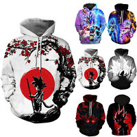 Men Women Dragon Ball Z 3D  Anime Print Pullover Hoodies Jumper Jacket Coat Tops
