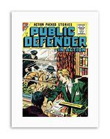 COMIC BOOK PUBLIC DEFENDER ACTION CRIME POLICE Picture Canvas art Prints
