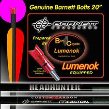 "Burt Coyote Lumenok 20"" Barnett HeadHunter Carbon Bolt Pink Crescent 3pk #00369"
