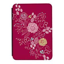 Morado Flores Rosa Otoño Kindle Paperwhite Toque PU Funda Libro de Piel